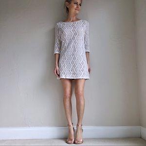 Lace Mini Half Sleeve Dress Size Small